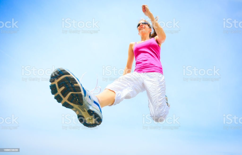 young woman jogging royalty-free stock photo