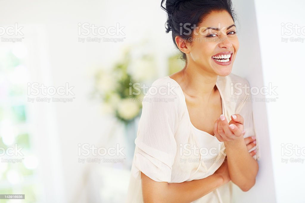 Young woman laughing royalty-free stock photo