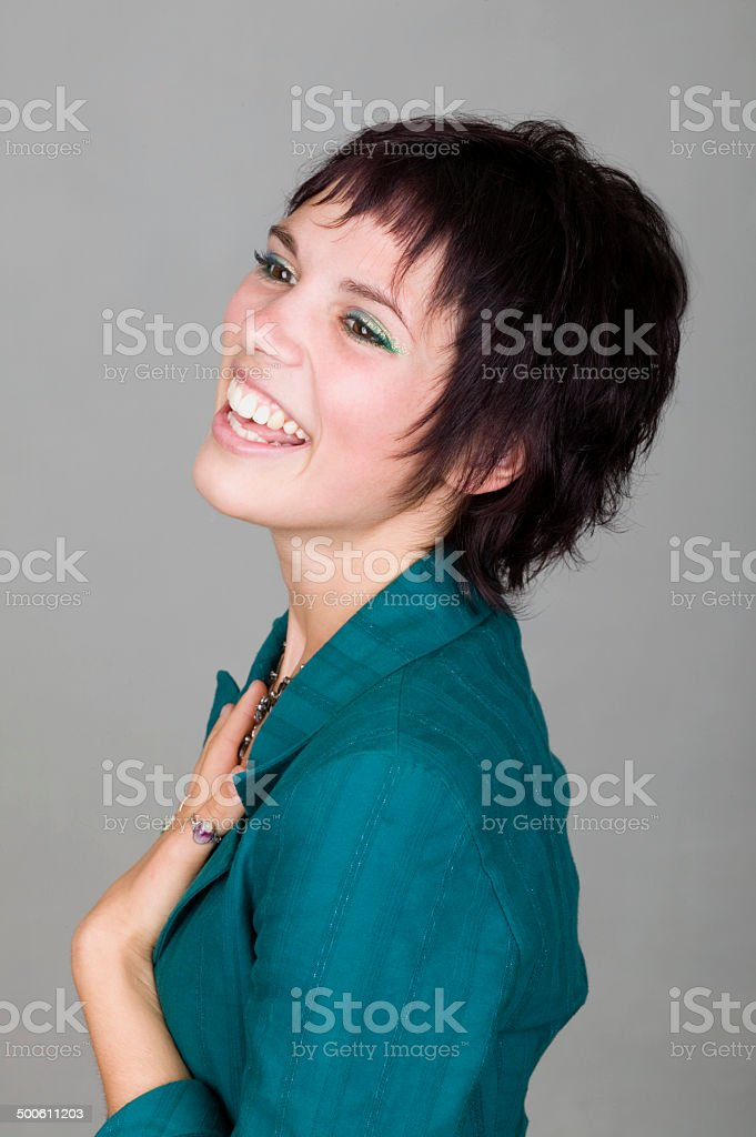 Jeune femme rire photo libre de droits