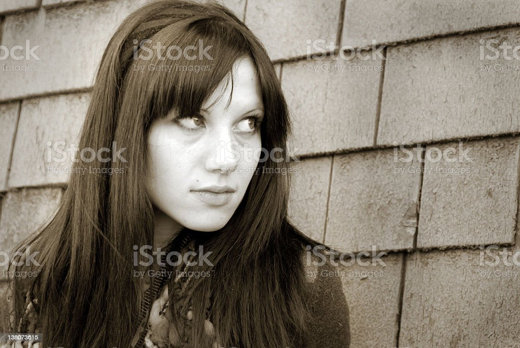 Young Woman Looking stock photo