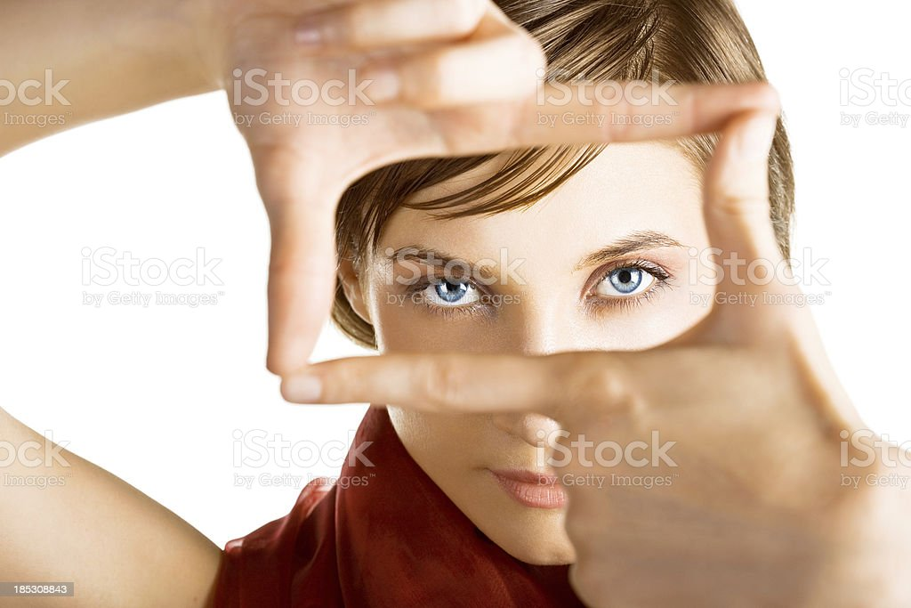 young woman looking royalty-free stock photo