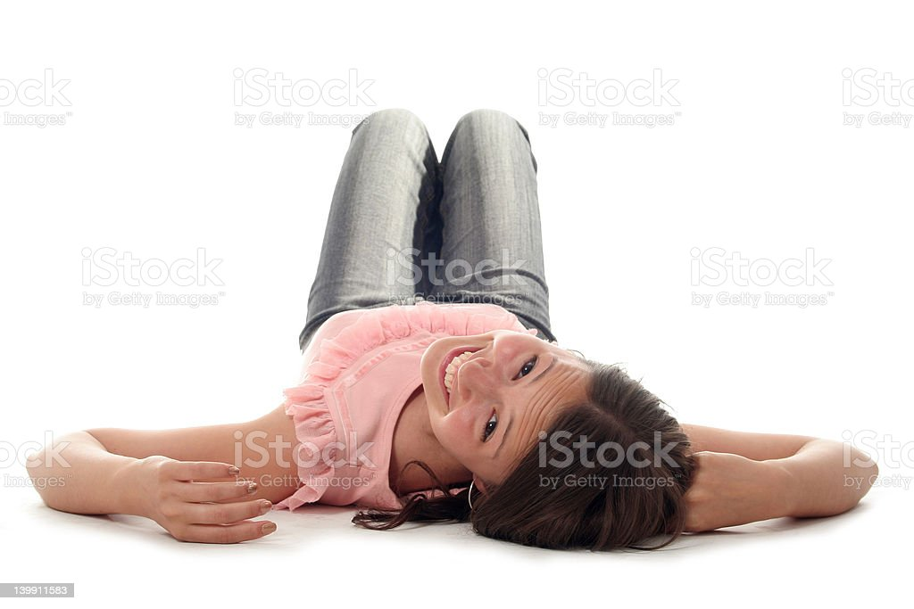 Young woman lying down royalty-free stock photo