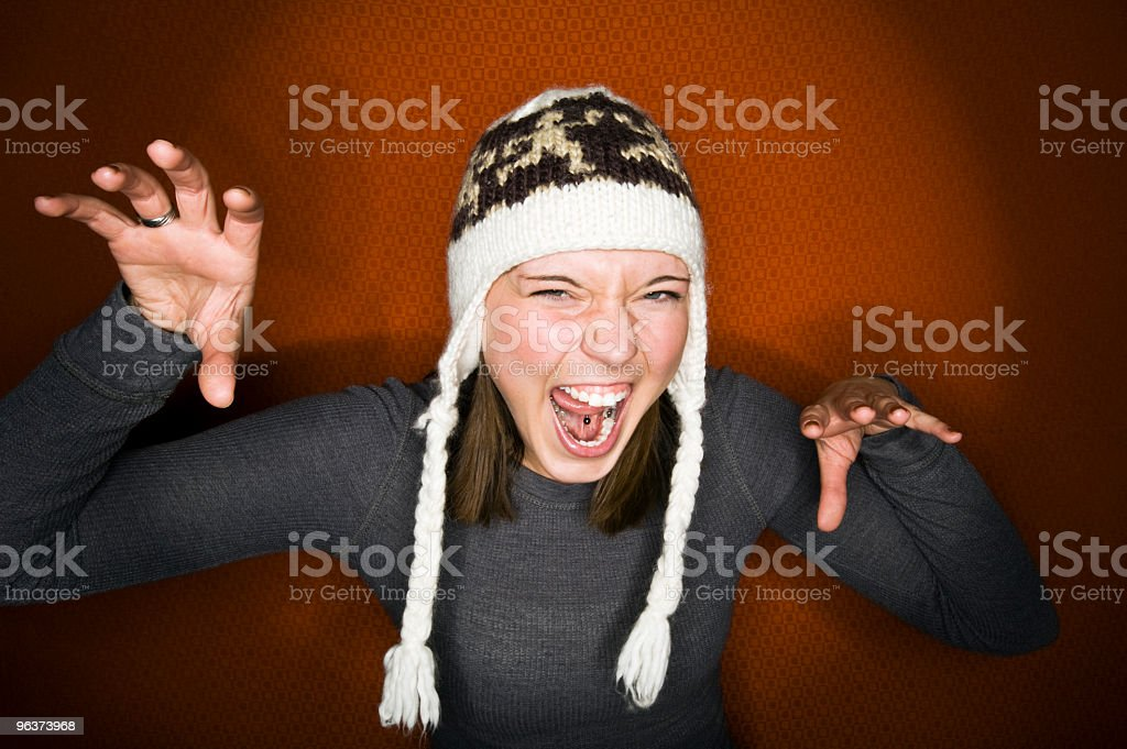 Young Woman Making a Face stock photo