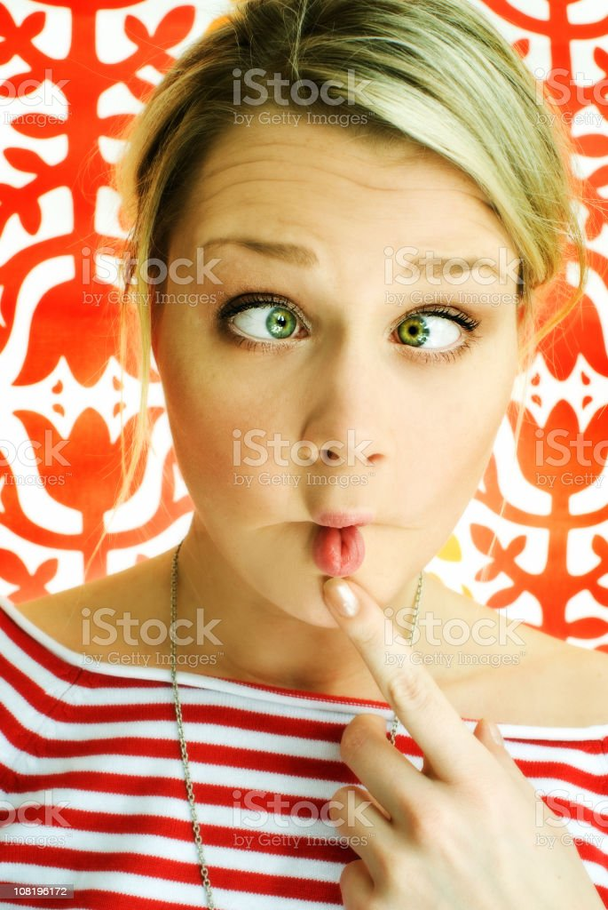 Young Woman Making Silly Face stock photo