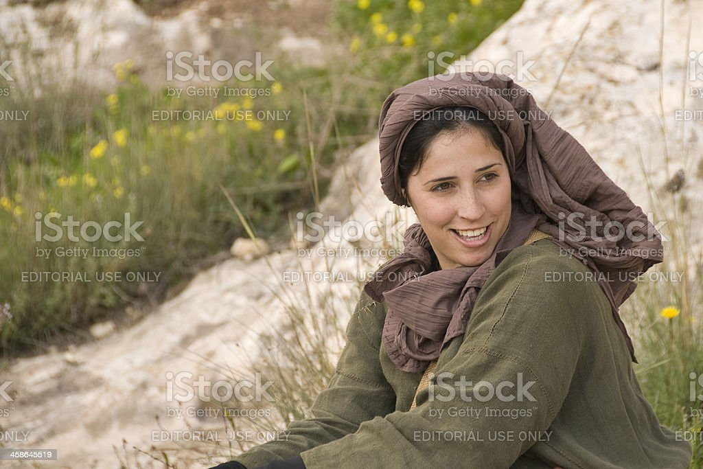 Young woman of Nazareth stock photo