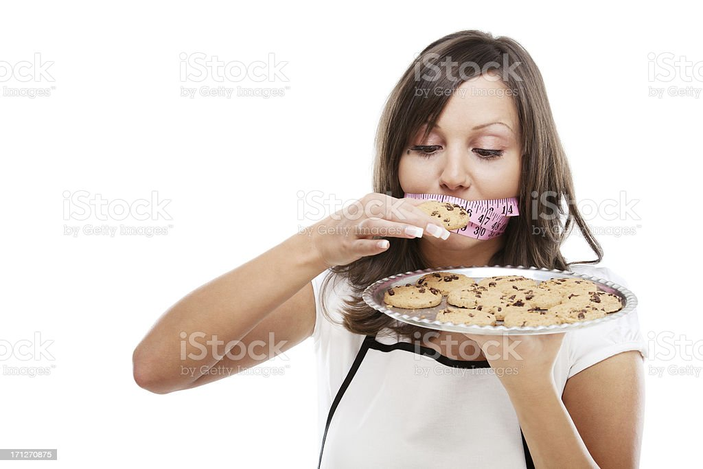 Young woman on a diet royalty-free stock photo