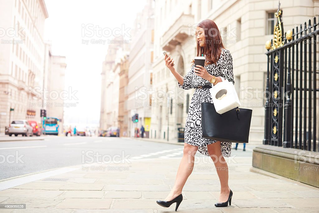 young woman on her lunch break stock photo