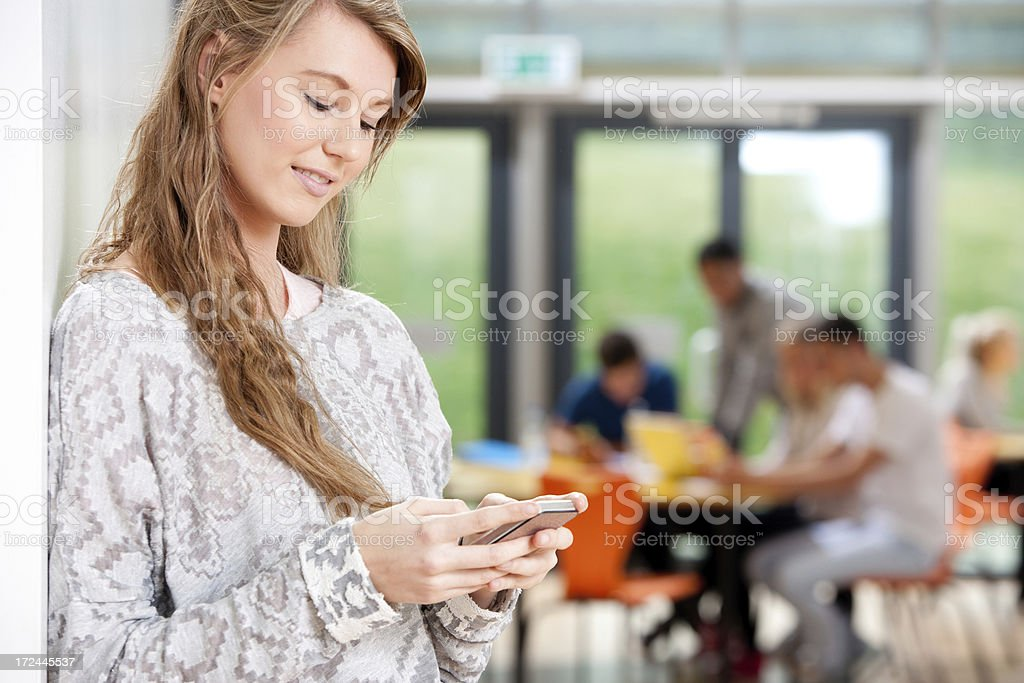 Young Woman on Mobile phone royalty-free stock photo