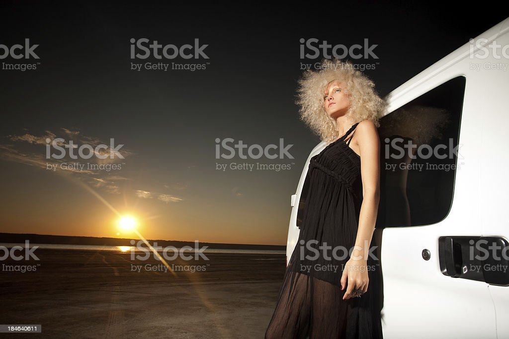 Young woman on nature royalty-free stock photo