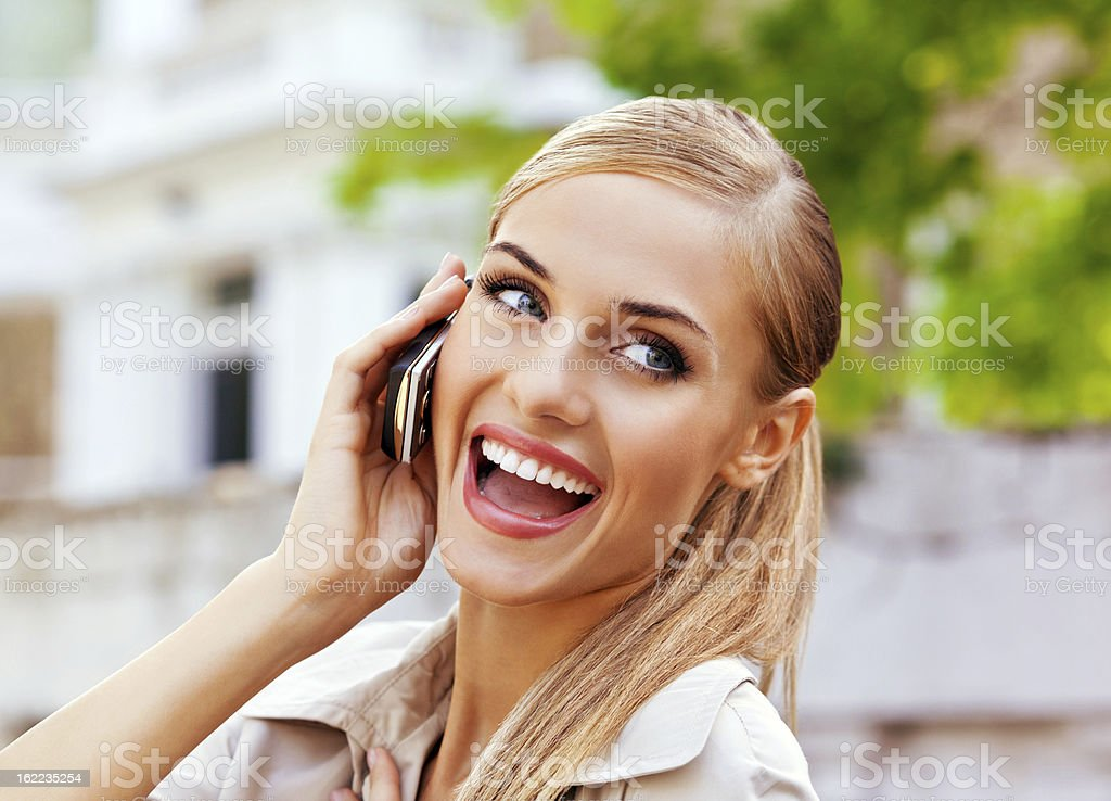 Young woman on the phone royalty-free stock photo