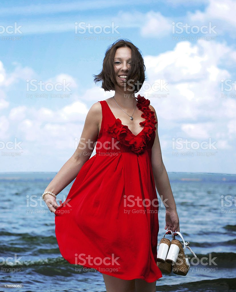 Young woman on vacation royalty-free stock photo