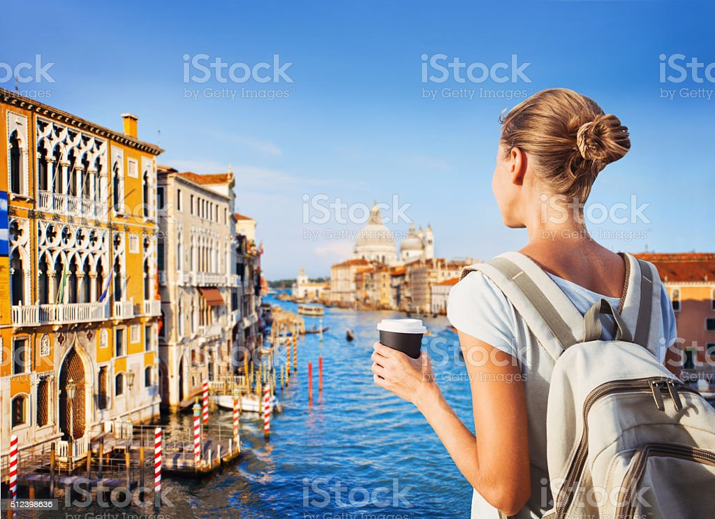 Young woman on vacations stock photo