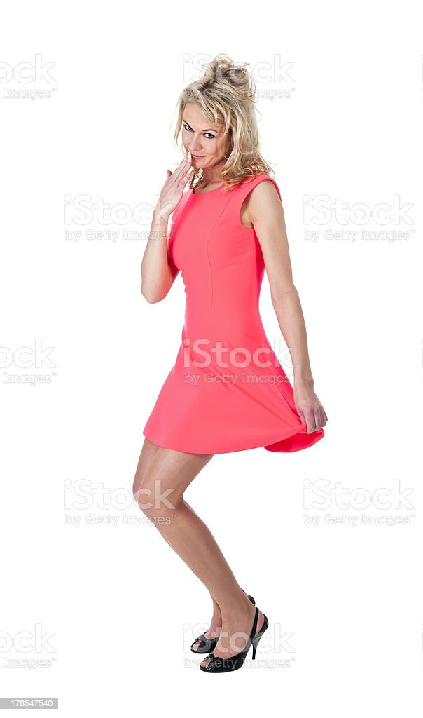 young woman oops stock photo