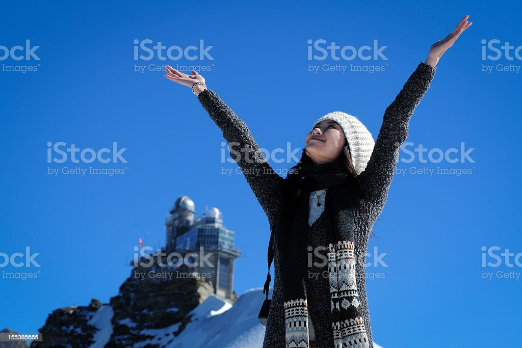 Young Woman Open Arms - XLarge royalty-free stock photo