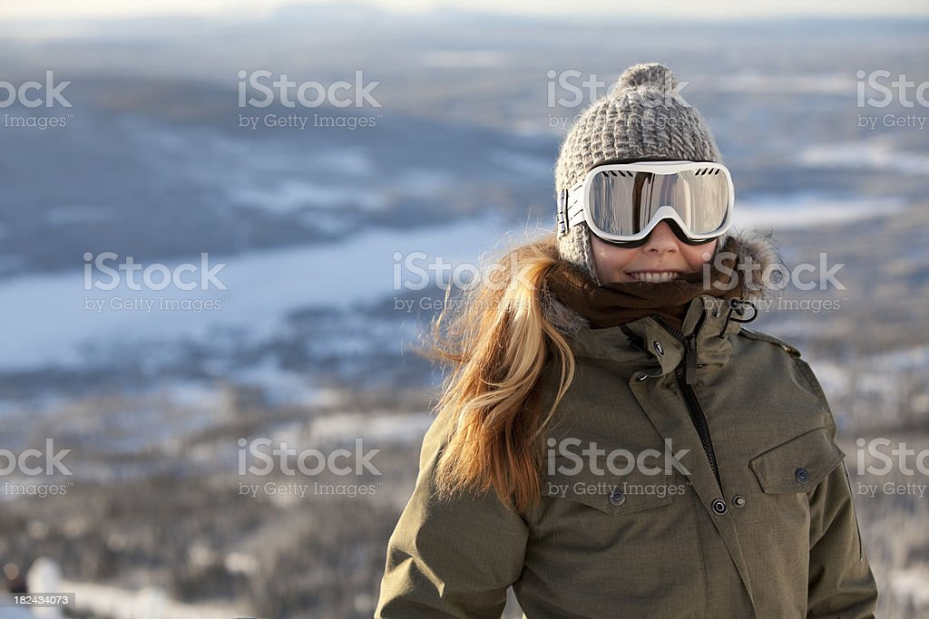 Young Woman Outdoors in Snowy nature royalty-free stock photo