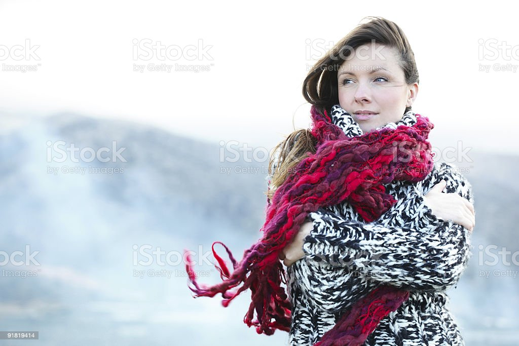 young woman outdoors royalty-free stock photo