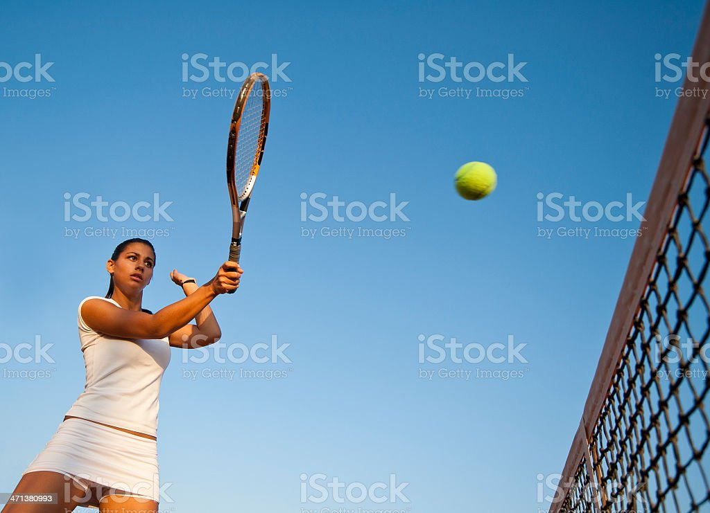 Young woman playing volley royalty-free stock photo