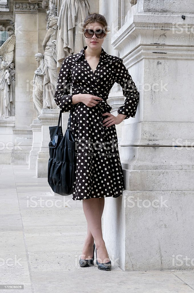 young woman posing in Paris royalty-free stock photo