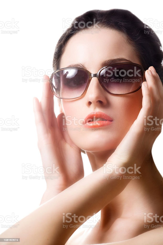 Young Woman Posing in Sunglasses royalty-free stock photo