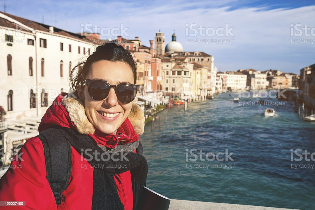 Young woman posing in Venice royalty-free stock photo