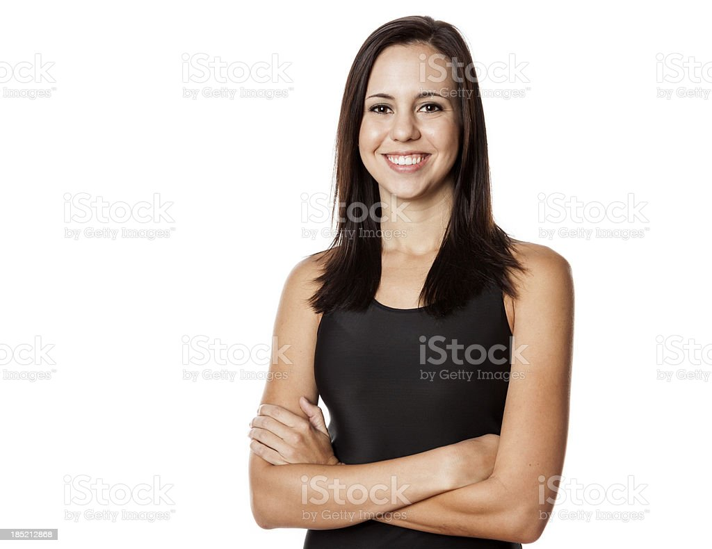 Young woman posing in workout clothes. royalty-free stock photo