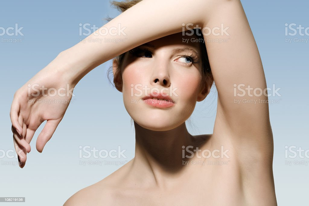 A young woman posing naturally royalty-free stock photo