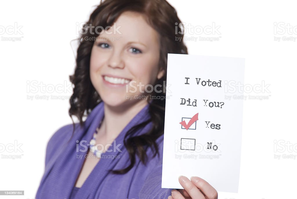 Young Woman Proud of Voting royalty-free stock photo