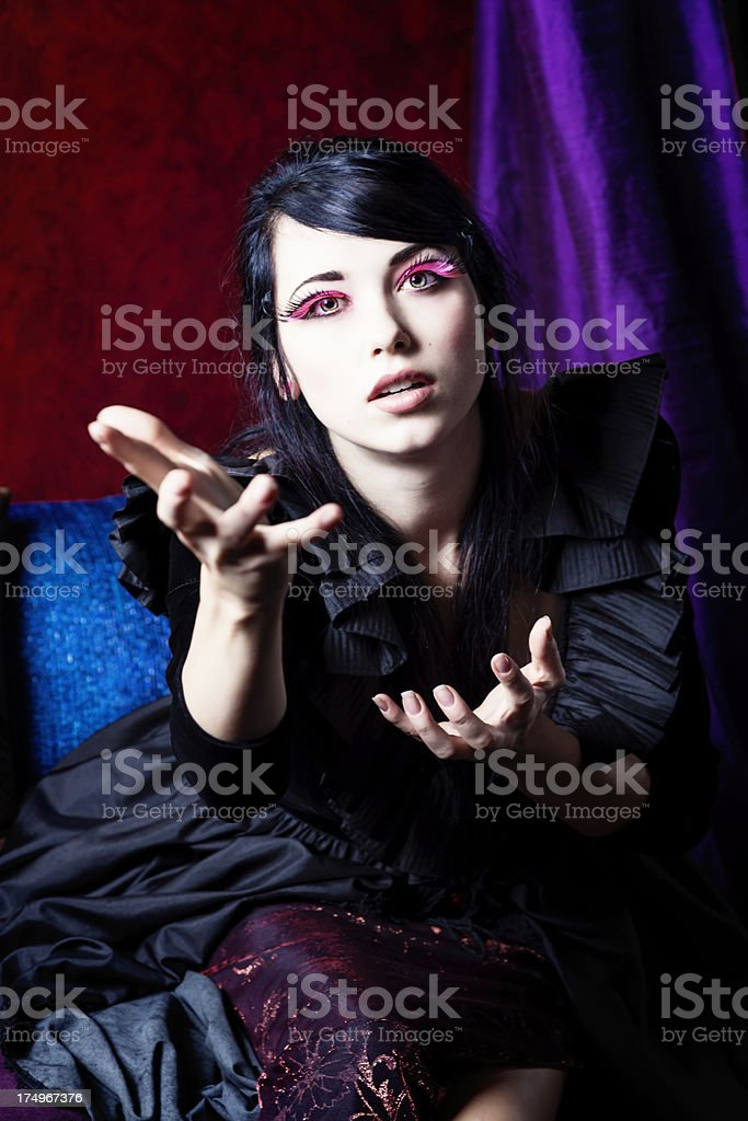 Young Woman Reaching Out royalty-free stock photo