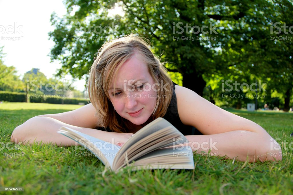 Young Woman Reading royalty-free stock photo