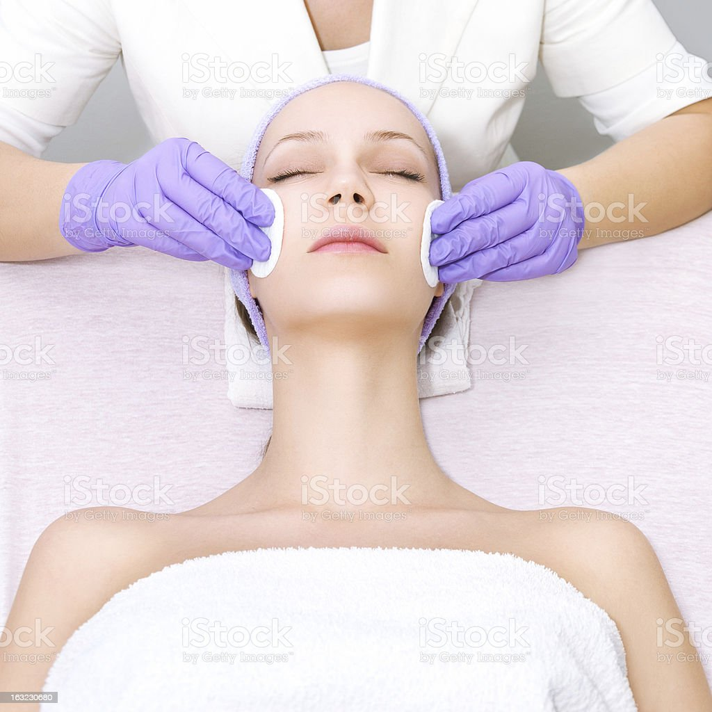 Young woman receiving spa treatments royalty-free stock photo
