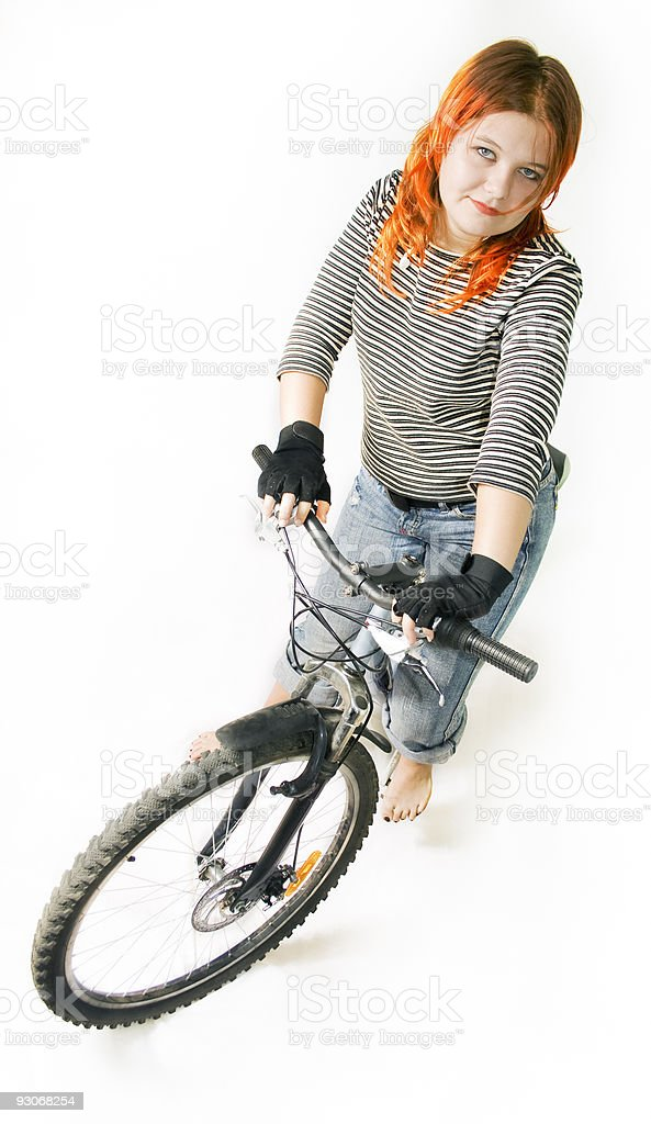 Young woman Riding. royalty-free stock photo