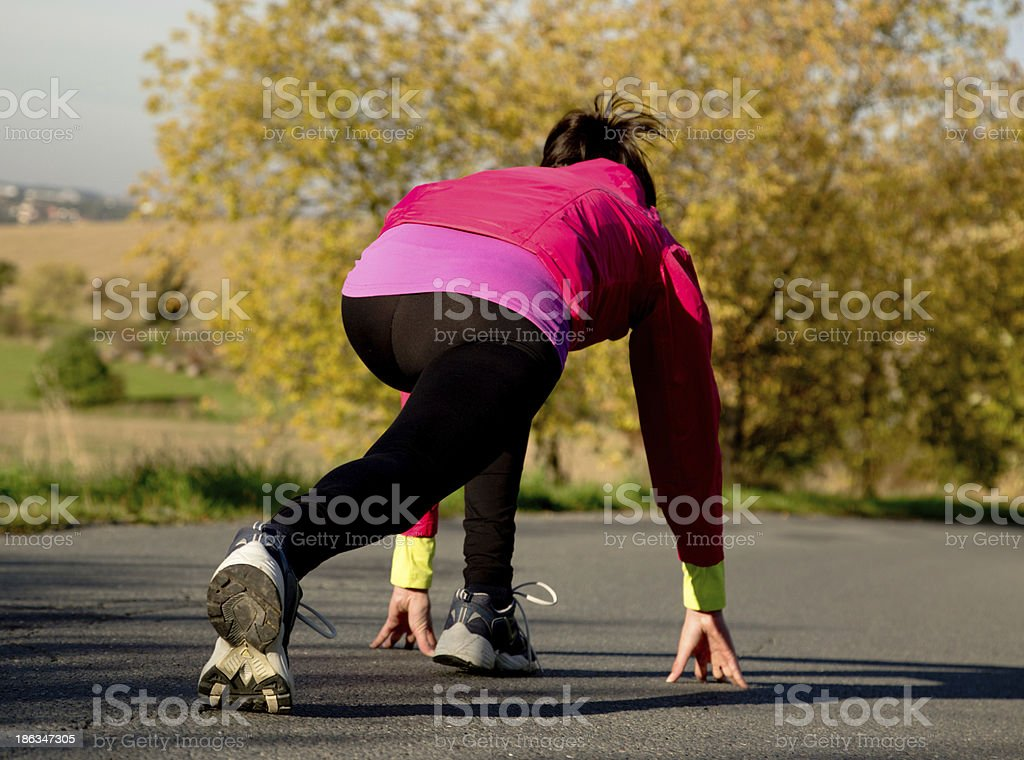 Young woman running royalty-free stock photo