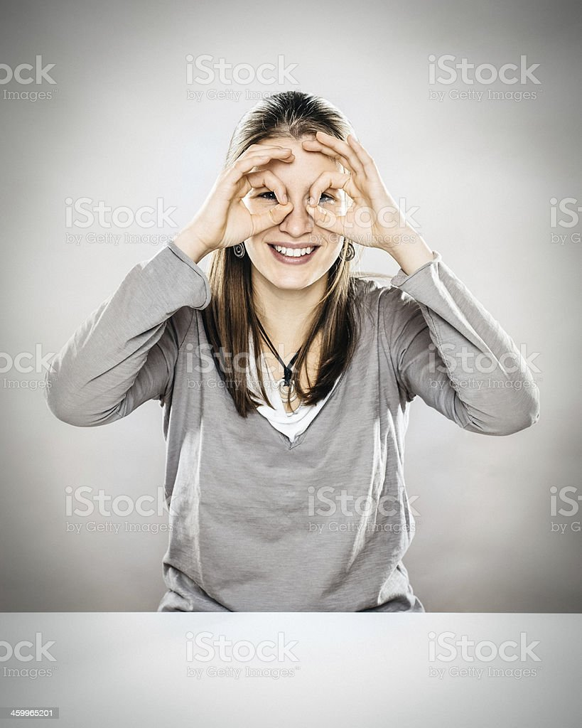 Young Woman Searching stock photo