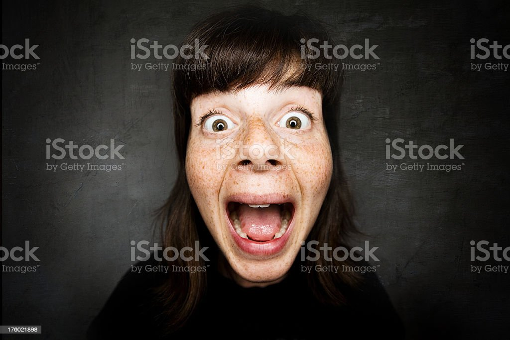 Young Woman Shocked Surprised royalty-free stock photo