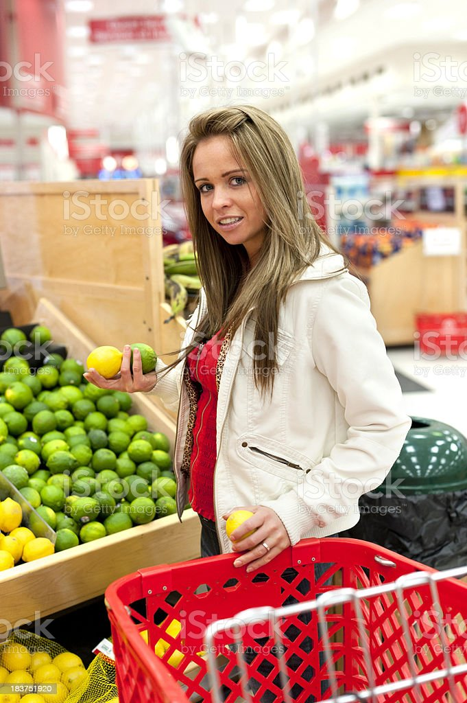 Young Woman Shopping for groceries royalty-free stock photo
