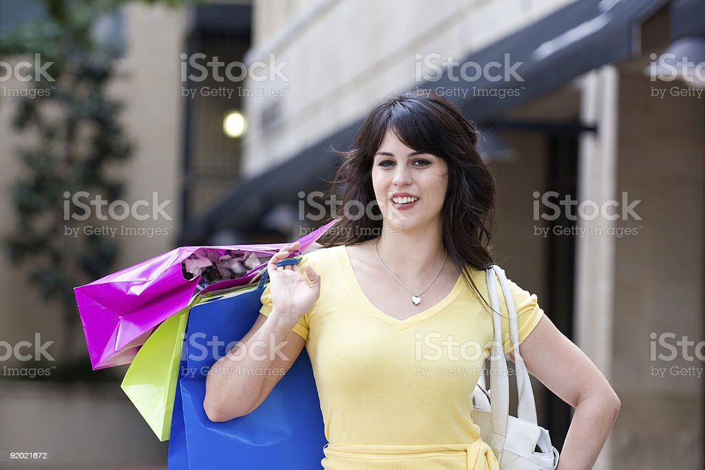 Young Woman Shopping In The City royalty-free stock photo