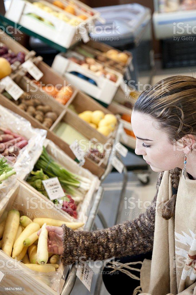 Young woman shopping. stock photo