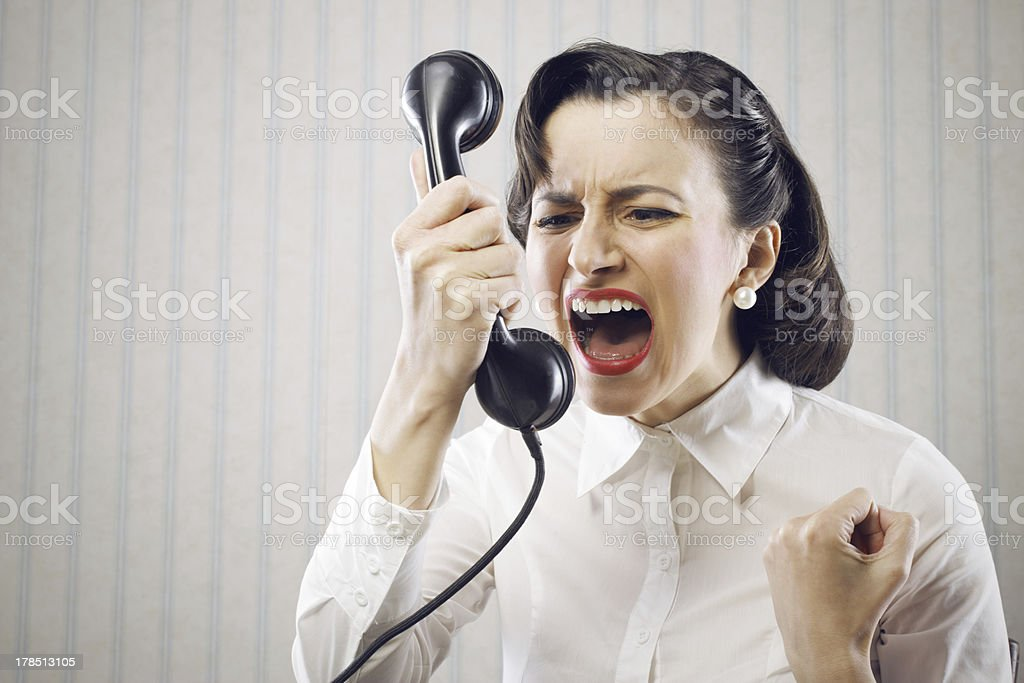 Image result for hysterical woman on a phone pictures