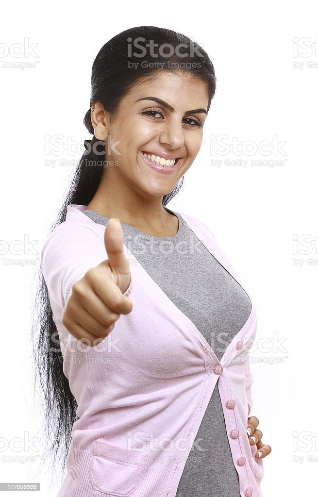 young woman showing ok royalty-free stock photo