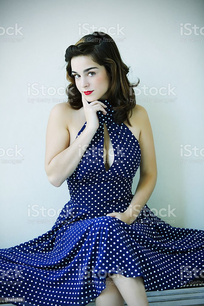 Young Woman Sitting royalty-free stock photo