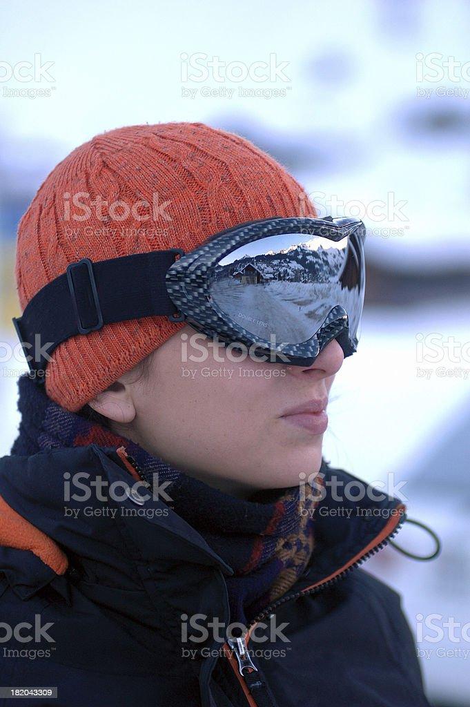 Young woman ski royalty-free stock photo