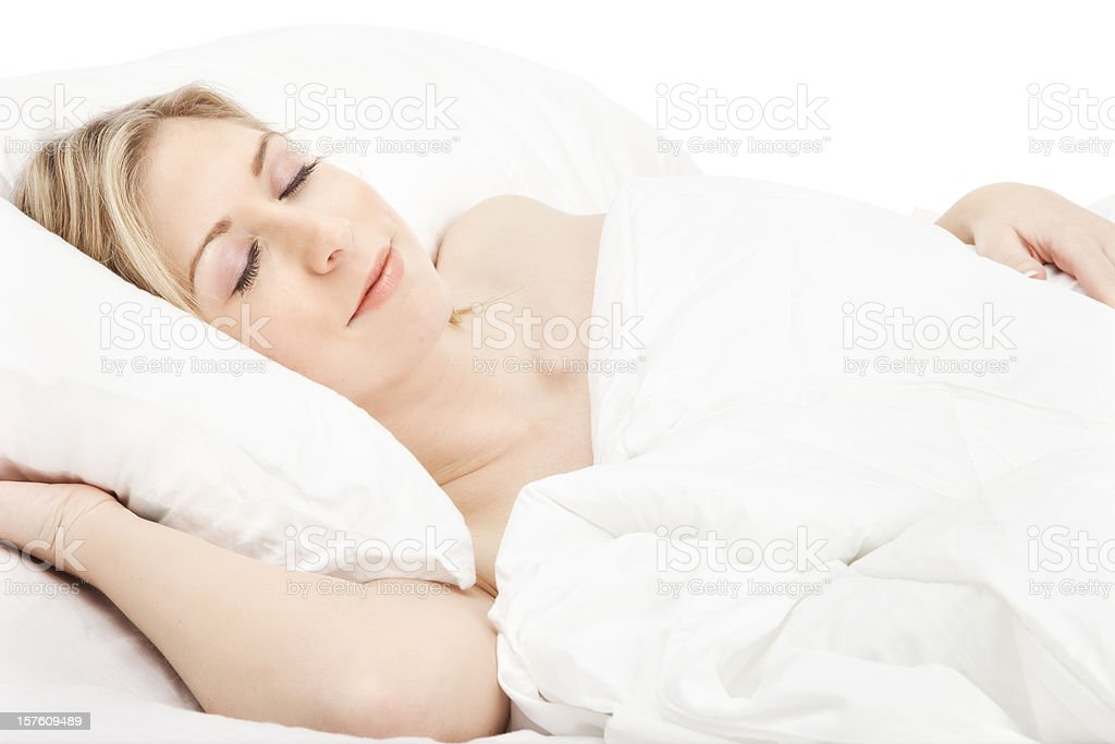 Young Woman Sleeping Blissfully royalty-free stock photo