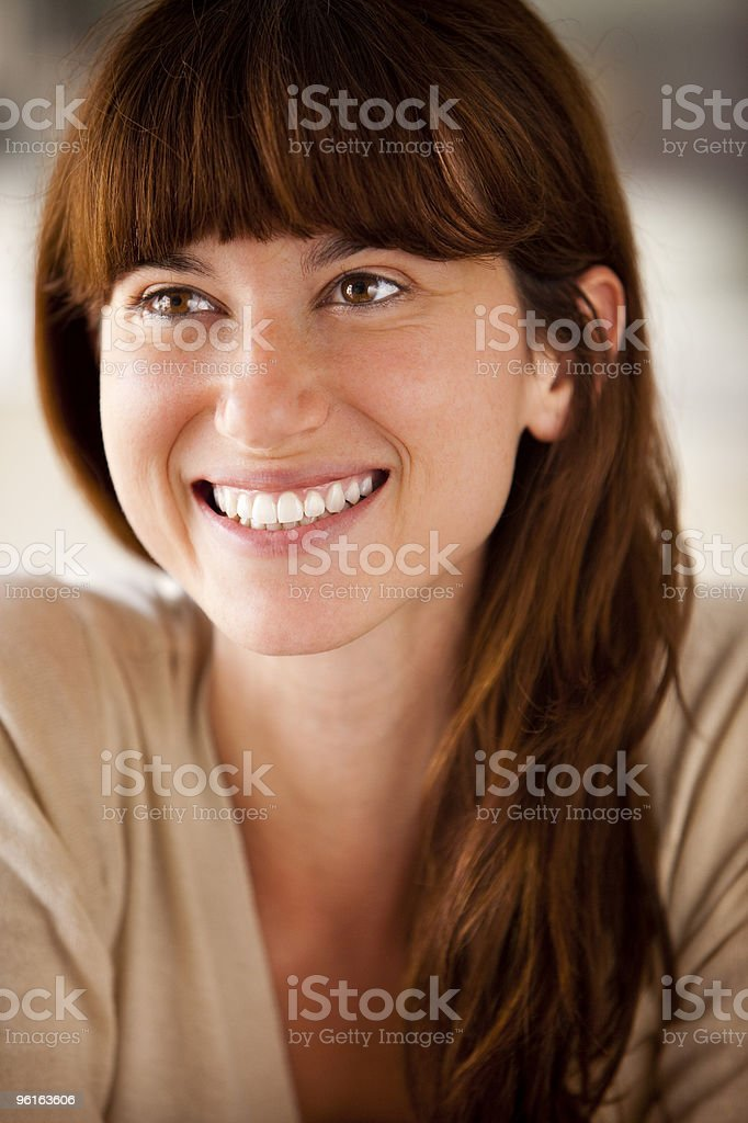 Young woman smile portrait stock photo