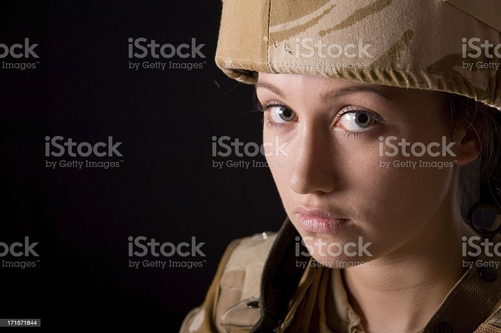 Young Woman Soldier stock photo