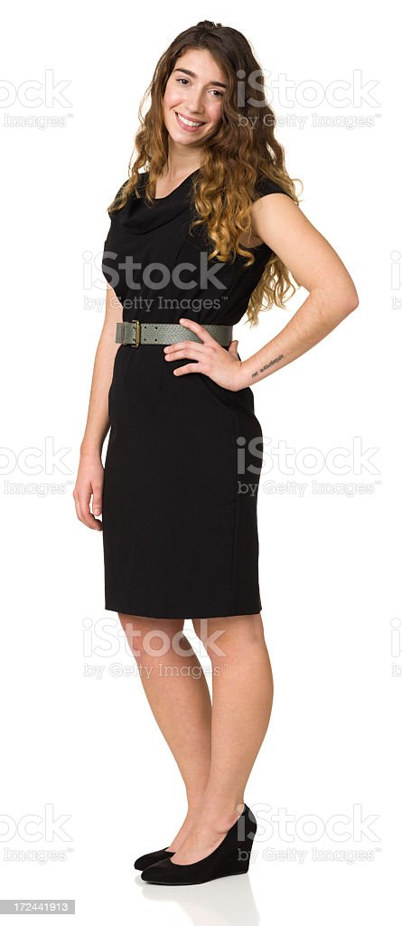Young Woman Standing Portrait, Full Length, Hand On hip royalty-free stock photo