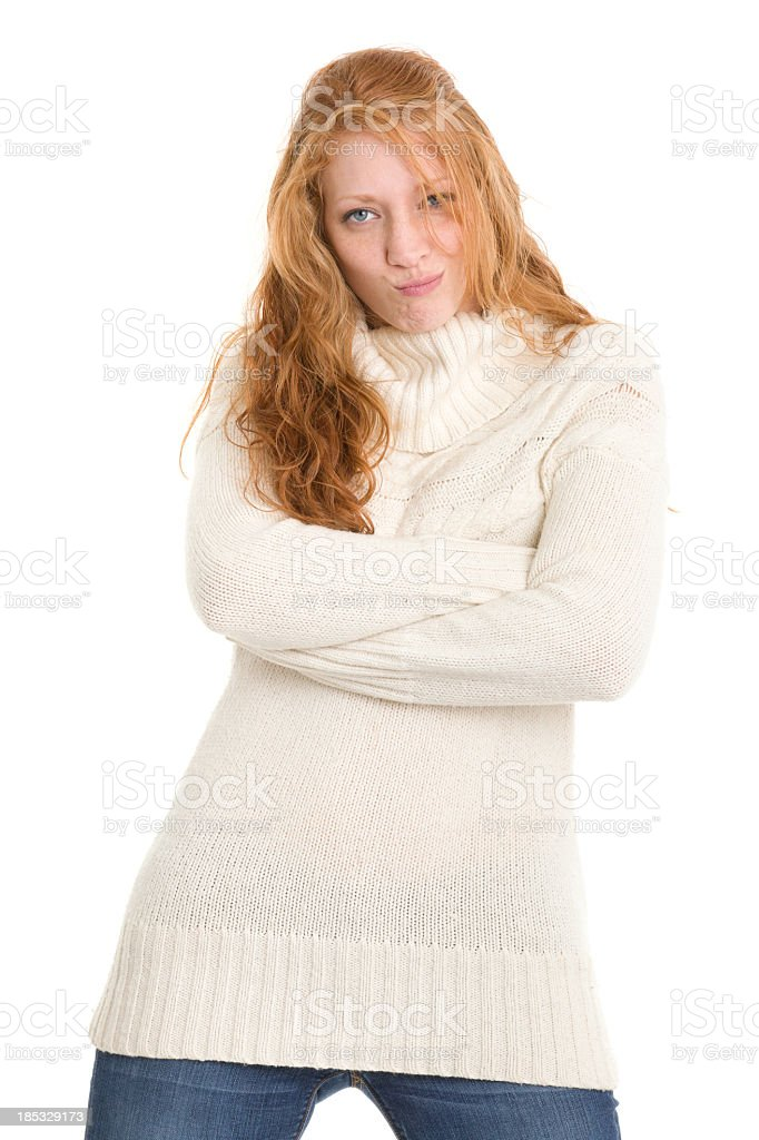 Young Woman Standing With Arms Crossed royalty-free stock photo