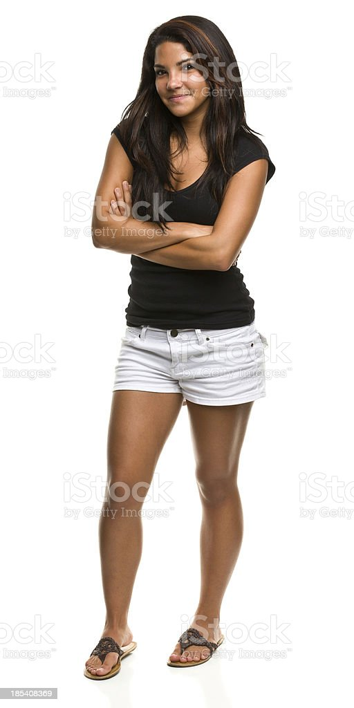 Young Woman Standing With Crossed Arms royalty-free stock photo