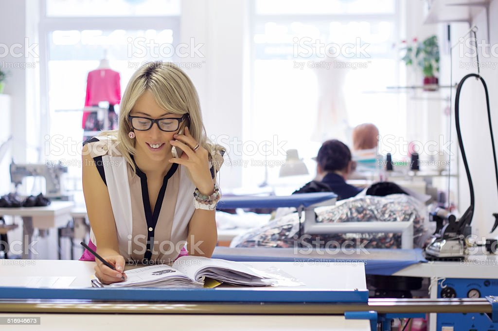 Young woman starting new business stock photo