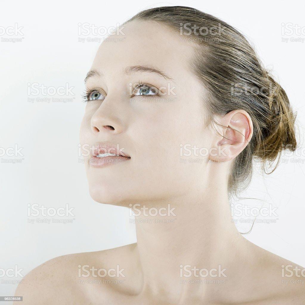 young woman studio natural beauty portrait stock photo