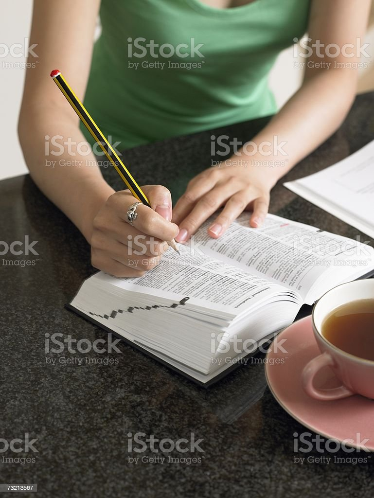 Young woman studying royalty-free stock photo